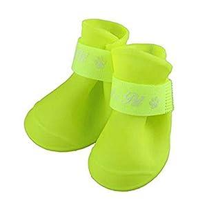 Alcyonée 4pcs/lot antidérapant de protection Bottes de pluie étanche Chaussures pour animal domestique Chien Chiot