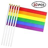 10pcs Flaggen Hand 14* 21cm Flagge kleine Flags Deko Club Bar Ideal für Sport Schule Spiele