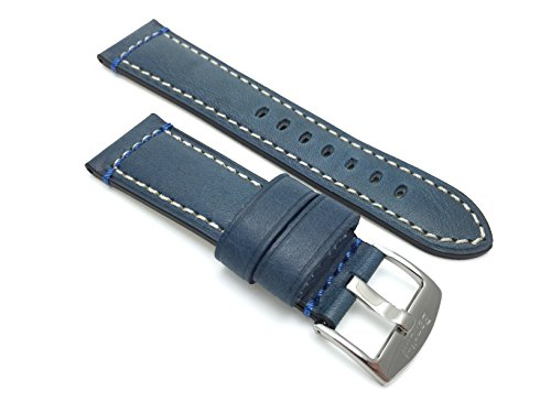 genuine-italian-leather-watch-strap-band-24mm-blue-double-stitching-stain