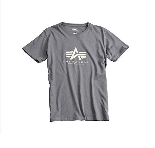 Alpha Industries Basic Logo T-Shirt Logo Shirt (XL, grey/black)