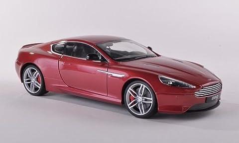 Aston Martin DB9 Coupe, met.-rot, LHD , Modellauto, Fertigmodell, Welly 1:18