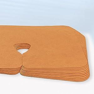 Dr. Güstel Waschfaserlaken ® PREMIUM Nasenschlitztuch COLOR orange 40×30 cm 1 Stück Gesichtsauflage OEKO-TEX® zertifizierte Vlieslaken Auflage für Behandlungsliegen 400x waschbar
