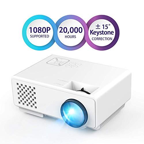 7. Dinshi Infinix Full HD Projector 1000 Lumen LED Projector with HDMI/VGA/USB Ports