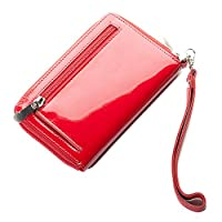 Janine Ladies Patent Leather Purse (red)