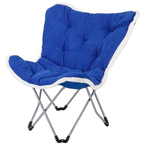 MDBLYJChaise longue Chaise pliante de balcon, chaise de papillon, chaise de loisirs, chaise de sofa, (Couleur : Sapphire Blue)
