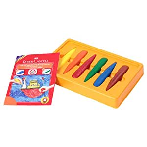 Faber-Castell First Grip Crayon Set - Pack of 6