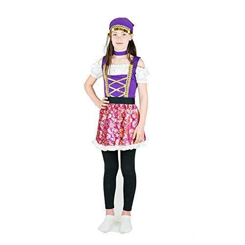 Bodysocks® Zigeuner Kostüm für Mädchen (6-8 Jahre)
