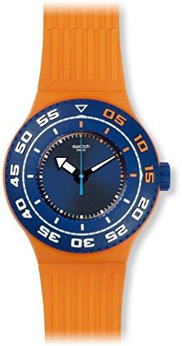Swatch SUUO100 - Orologio da polso Unisex, Silicone, colore: Arancione