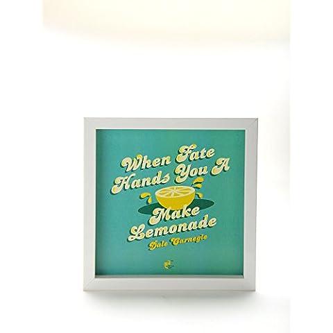 Fate un Thinkpot mani quando Lemon Dale Carnegie bianco, 8 X 8, multicolore
