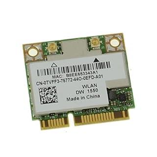 Dell Wireless 1550 802.11AC WLAN Bluetooth 4.0 Combo (kit) Half Mini-Card DW 1550 (B00TPU8CQK)   Amazon price tracker / tracking, Amazon price history charts, Amazon price watches, Amazon price drop alerts