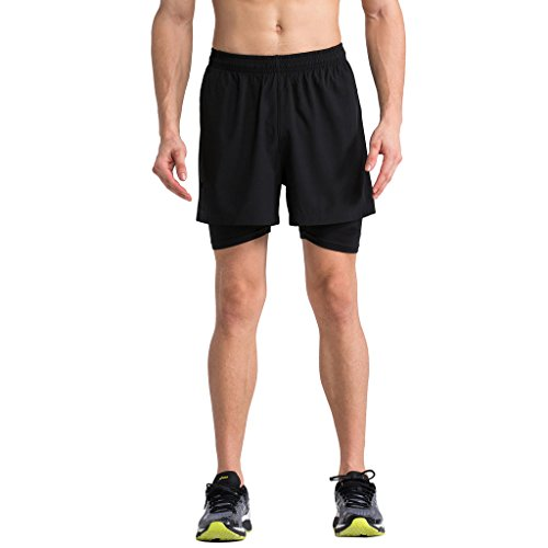 2-fitness-running-shorts-mens-2-in-1-shorts-4-inch-running-wear-training-pants-black-m
