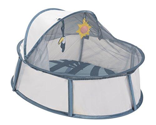 Babymoov Little Babyni Tropical - Pop-Up Reisebett, Spielpark für Babys, UV-Schutz 50+, weiche Matte, inkl. Moskitonetz, 84 x 72 x 61 cm
