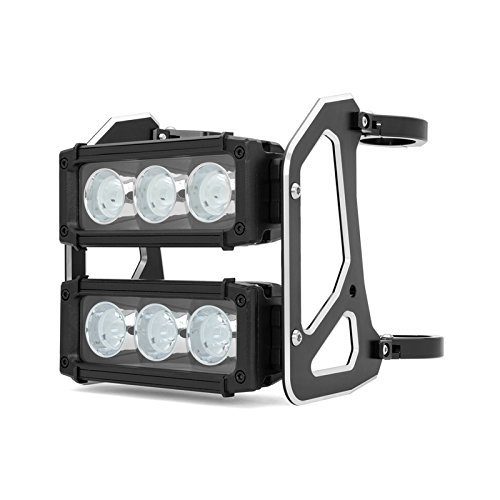 Preisvergleich Produktbild LED LICHT LEISTE FRONTSCHEINWERFER Motorrad 56-57mm Doppel- gestapelt für Streetfighter Projekt