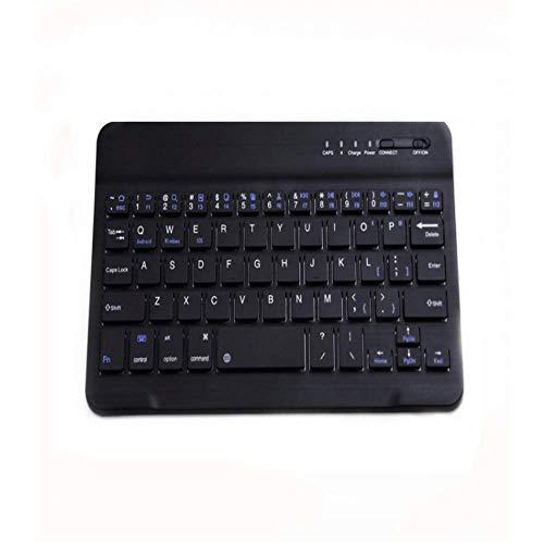 Mini Wireless Keyboard Mechanische Handgefühl Ergonomische Professionelle Protable Wireless Bluetooth 3.0 Tastatur für Ios Mac Handy Tablet Laptop Universal,Black,7inch