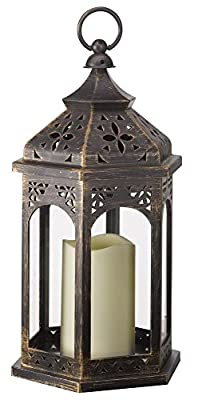 Stylla London Trendy Moroccan Style Metal Hanging Table Lamp Lantern Candle holder