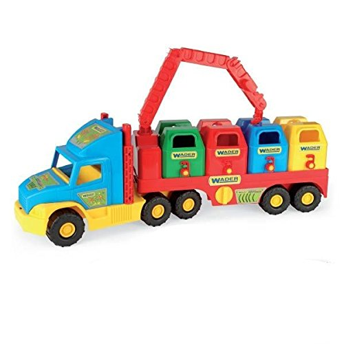 Wader-Wozniak 36530 - Super Truck, 4 Container, 78 cm - Super Container