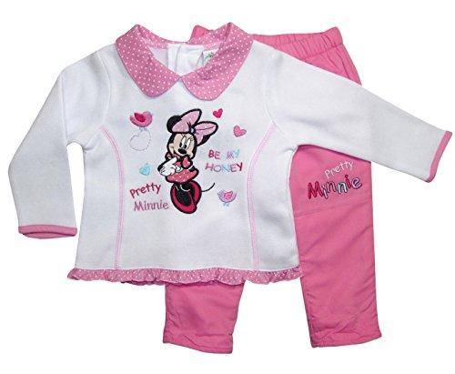 Minnie Mouse Kollektion 2017 Pullover und Hose 68 74 80 86 92 Mädchen Hose mit Innenfleece Neu Top Maus Set (74 - 80, (Frozen Für Babys Kleid)