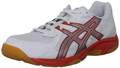 Asics Men's Gel Doha White/Silver/Red Court Trainer B200Y 0193 10.5 UK