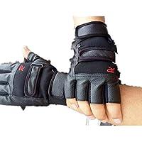 Gimnasio para fortalecer los músculos Guantes de entrenamiento, Deportes Guantes Peso de elevación ((B)Negro)