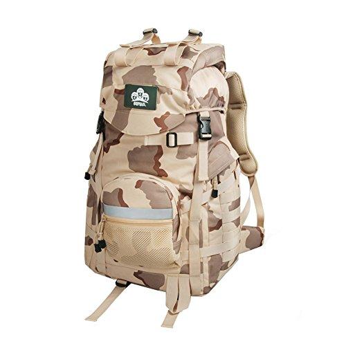 YAAGLE Outdoor Bergsteigen Taschen Schultertasche groß Fassungsvermögen Rucksack Wandern Camping-Paket draußen Reisetasche Tarnung 2
