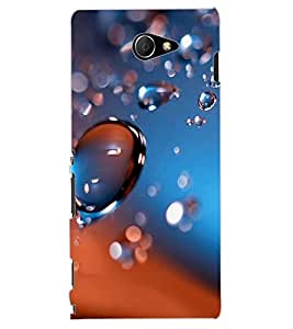 ColourCraft Water Drops Design Back Case Cover for SONY XPERIA M2