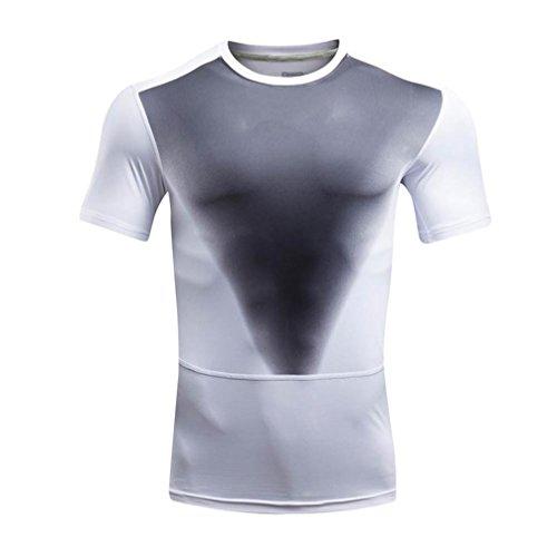 Herren Sport T-Shirt, KaloryWee 2017 Mode Sommer Herren Hemd (X Hawaii-hemden 4)