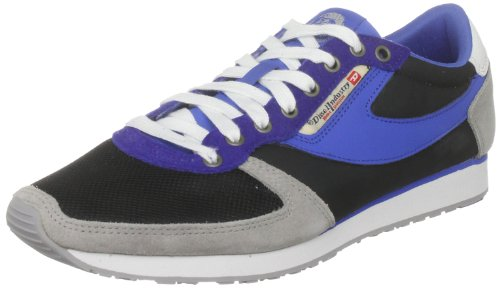 Diesel - Scarpe Basse Stringate uomo , Blu (Black/blue/paloma), 45