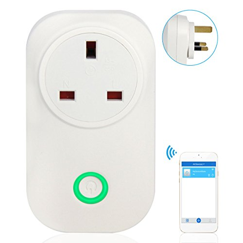 ITEAD S20 WIFI Switch Smart Socket, Wireless Remote Control Socket Compatible with Amazon Alexa,No Hub Required, Control Your Devices from Anywhere via Android /iOS (UK Plug)
