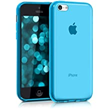 kwmobile Funda para Apple iPhone 5C - Case para móvil en TPU silicona - Cover trasero en azul claro