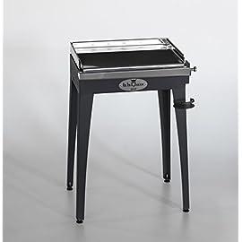 Barbecue a Gas BBQueen Grill 6.4 Antracite Piastra Inox (Barbecue Portatile, Barbecue a Piastra, Barbecue per Campeggio, BBQ Gas, Barbecue per Terrazzo/Balcone, Barbecue da Esterno) (Piastra Liscia, Standard)