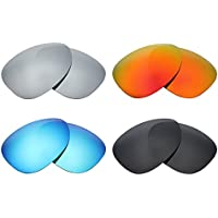 Mry 4paires polarisées Lentilles de remplacement pour Oakley Radarlock Path Vented Sunglasses-stealth Noir/rouge Feu/ICE Bleu/argent Titane qWOqS