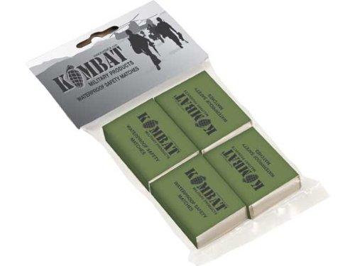 Scopri offerta per Fiammiferi impermeabili (4 scatole) per sopravvivenza bushcraft campeggio