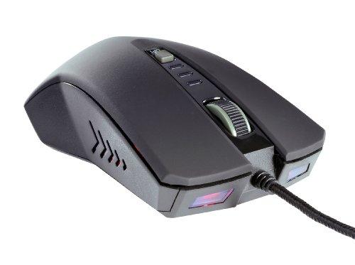 Ultron 121266 GameOne optische Laser-Maus (2400dpi, 5-Tasten, USB) schwarz