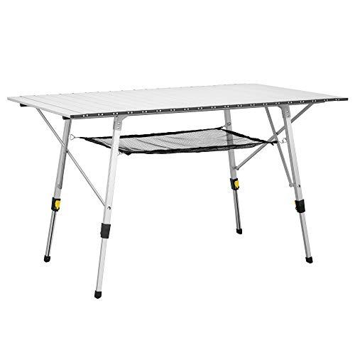 Tavoli Alluminio Pieghevoli Usati.Tavolini Campeggio Pieghevoli E Arrotolabile In Alluminio Grandi