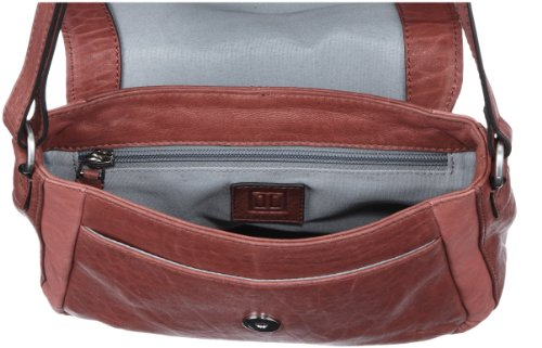 Jette Joop Borsa a spalla Mrs. Fox small Shoulder Bag, Bianco (Blanc - Weiß (nature 103)), 24x15x8 cm (B x H x T) Rosso (Rot (light red 301))