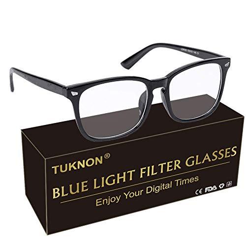 Blaulichtfilter Brille, Game Brille, Computerbrille, PC Gaming Brille zum Blockieren von UV-Kopfschmerz, Verringerung der Augenbelastung, Anti blaulicht (Herren/Damen)