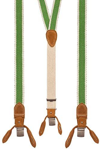 Luise Steiner Trachtenaccessoires Trachten Hosenträger - WEB - grau, tanne, grasgrün, Größe 120 cm