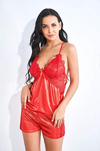 Erotische Baby Dolls & Negligees Fun-Unterwäsche Erotische Kostüme Für Damen Sexy Dessous Sexy Frauen Zu Hause Unterwäsche Sexy Anzug Rot (Kostüm Frauen Zu Hause)