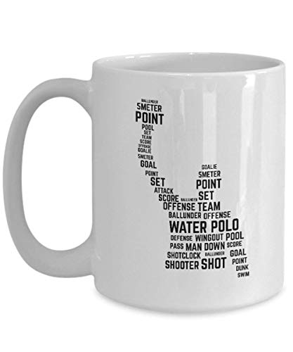Water Polo Gifts Water Polo Player Water Polo Team Water Polo Coach Water Sports Water Polo Mug Water Polo Cup Word Cloud Art