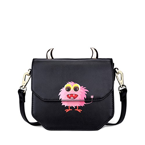 FZHLY Frau Mini Schultertasche Cute Print Messenger Bag Single-shoulder Bag Anime