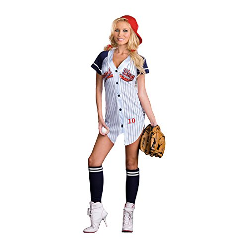 Sexy Baseball Player Jersey Grand Slam Adult (Baseball Kostüm Damen)