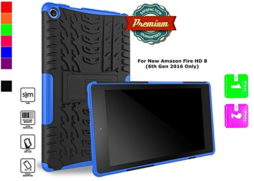 Aken Guard Serie Rugged Hybrid-Dual-Layer Case Amazon FIRE HD 8 Fall (2016 6. Generation nur) mit Ständer (Ipad 1 Fällen Otter Box)