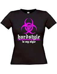 "Hardstyle is my style ""Destroy"" Girlie T-Shirt Hardcore - original"