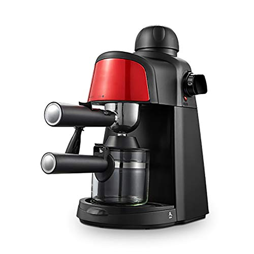 Espressomaschine, multifunktionale Espresso- und Cappuccino-Maschine, halbautomatisches Dampfschäumen, rot