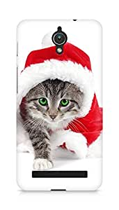 Amez designer printed 3d premium high quality back case cover for Asus Zenfone C ZC451CG (Christmas Cat 3)