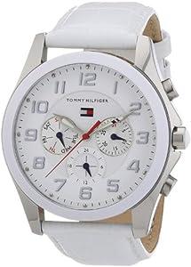 Reloj Tommy Hilfiger 1781281 de cuarzo para mujer con correa de piel, color blanco de Tommy Hilfiger