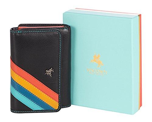 """Visconti portafoglio di pelle da donna a piegatura tripla """"Daisy"""" Floral Multicolor Purse (DS81): Chloe"""