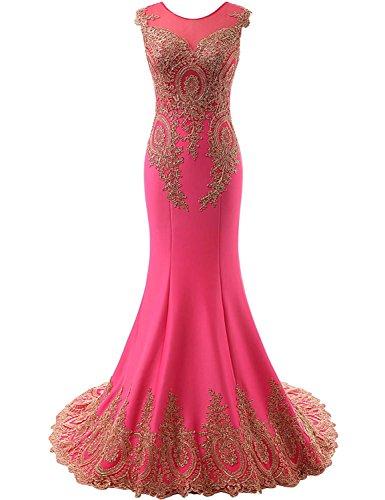 Sarahbridal Damen Kleid Fuchsia