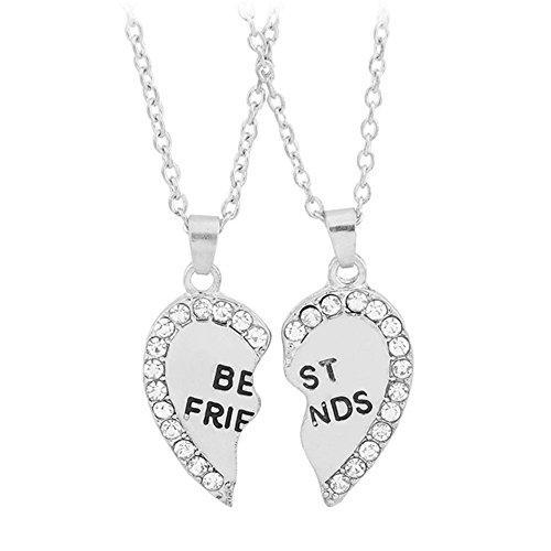 Fansi Conjunto de 2 Collares para Mujer, Diseño de Corazón de Pareja y Mejor...