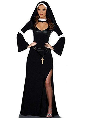 Gorgeous Halloween-Maskerade- RPG Nonnen Kleid Halloween-Kostüme Halloween-Kostüme Kostüme für (Kostüme Erwachsene Tuxedo)